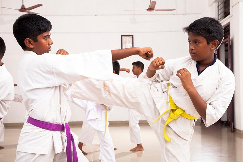 Rajagiri Christu Jayanthi Public School-Karate Activity