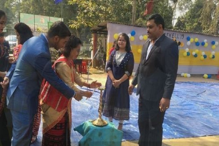 kendriya Vidyalaya -Lighting the lamp