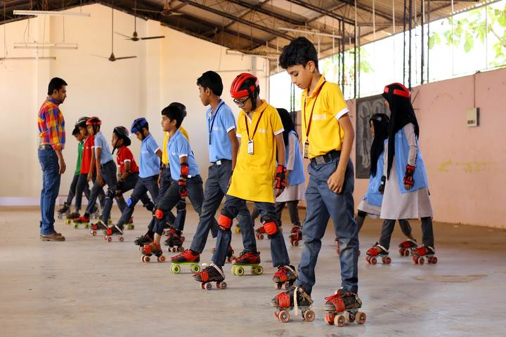 Dayapuram Residential School-Skating Activity