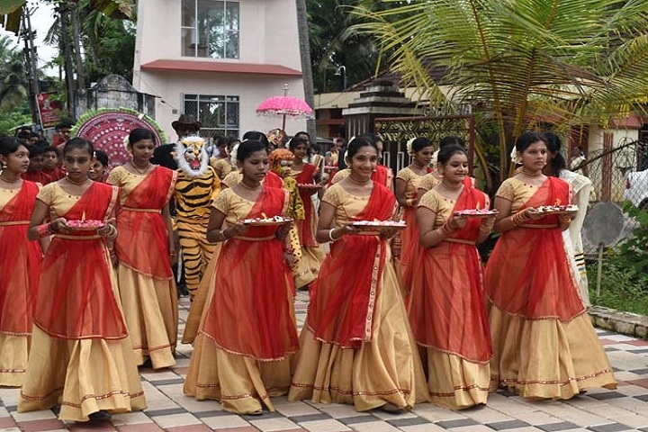 Fr Thomas Porukara Central School-Onam traditional dress