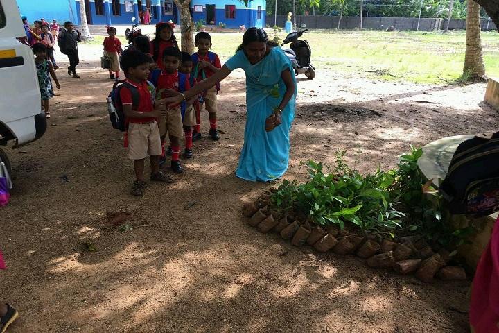 Fr Xavier Aresseril Memorial English Medium School-Tree Planting