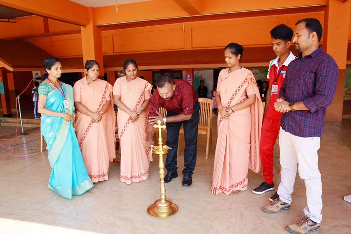 Fusco English Medium School-Lighting the lamp