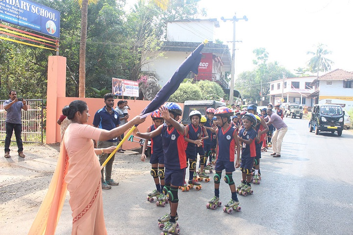 Fusco English Medium School-Skating road on republic day