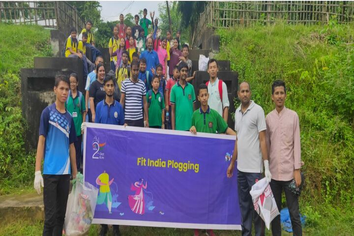 Kendriya Vidyalaya-Fit India Plogging