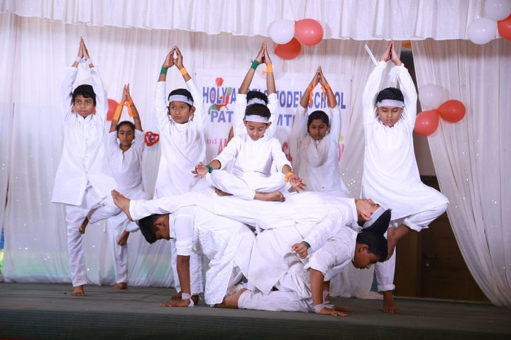 Holy Angles Model School-Yoga Day