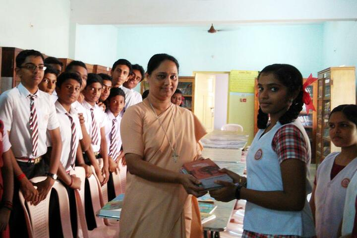 Jyoti Nilayam Secondary School-Books Distribution