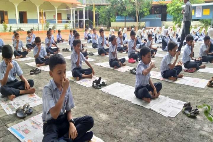 M S I English School-Yoga Day