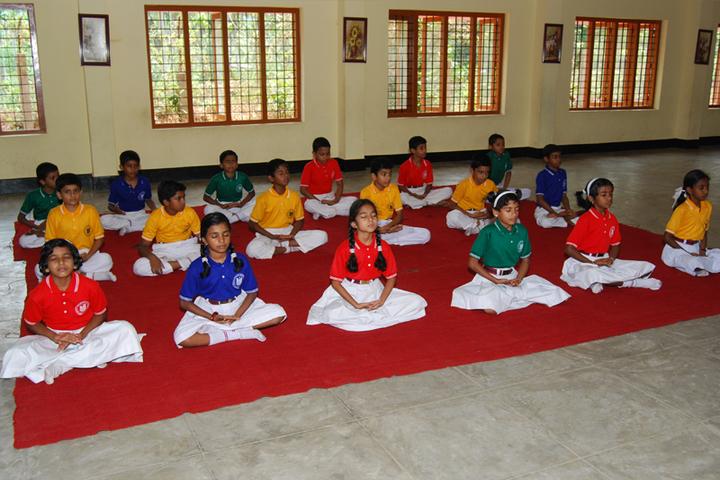 Marian English Medium School-Yoga Activity