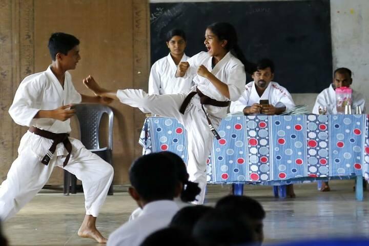 Marivanios Bethany Public School-karate Competition