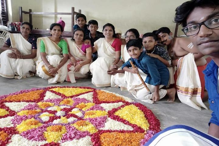 Raja Rajeswari Central School-Rangoli