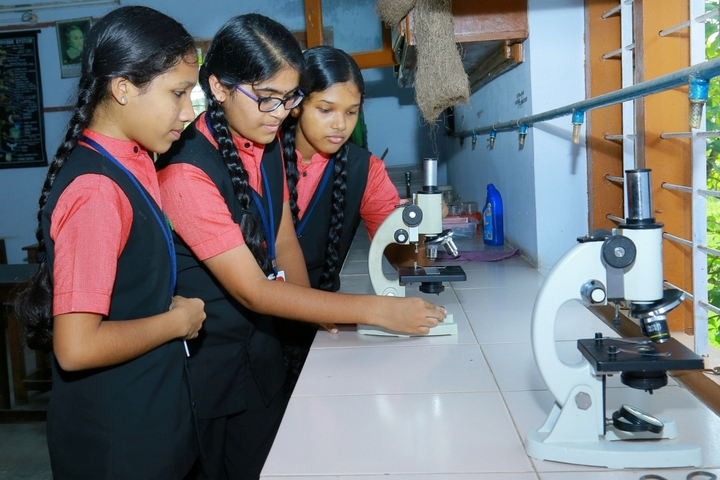 Rajashree S M Memorial School-Biology Lab