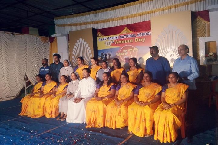 Rajiv Gandhi National School-Staff Group Photo