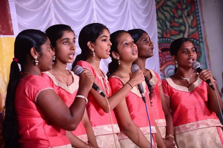 Shree Vidyadhiraja Seva Mission School-Singing