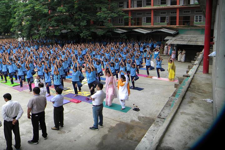 Shrimanta Shankar Academy-International Yoga Day