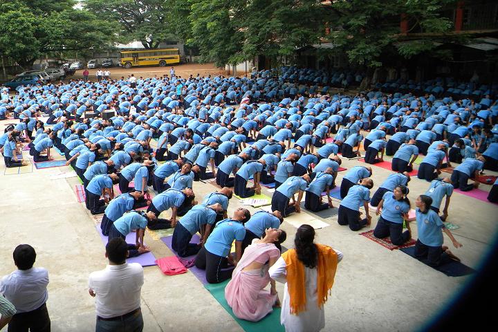 Shrimanta Shankar Academy-Yoga Day