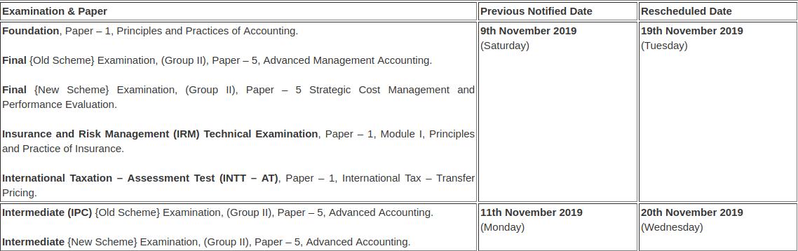 CA-postponed-exams-new-date